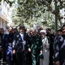 تصاویر آئین نصب تمثال ۲ هزار شهید شهر تهران به مناسبت هفته دفاع مقدس
