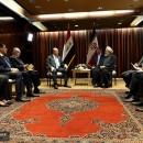 روحانی در دیدار رئیس جمهور عراق: شتاب در توسعه مناسبات تهران - بغداد باید ادامه یابد