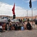 تصاویر کاروان زائران پیاده امام رئوف
