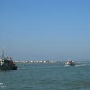 تصاویر رژه اقتدار یگانهای شناور دریایی ارتش ومرزبانی در آستارا