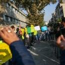 تصاویر تجمع دانشجویان در مقابل سفارت فرانسه در حمایت از جلیقه زردها