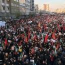 تصاویر حضور بی نظیر مردم انقلابی در انتظار سردار قاسم سلیمانی