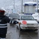 خبرفوری: بارش برف در محورهای کوهستانی مازندران  -  سطح جاده ها لغزنده است
