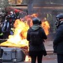 تصاویر تظاهرات خشونت بار در پاریس