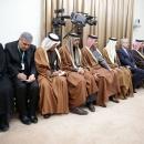 تصاویر دیدار امیر قطر و هیئت همراه با رهبر انقلاب