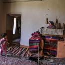 تصاویر جاجیم بافی در زیارت گلستان
