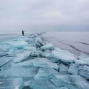 تصاویر دریاچه یخ زده بایکال