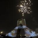 تصاویر نور افشانی میدان آزادی به مناسبت سالروز پیروزی انقلاب اسلامی