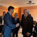 دیدار و گفتگوی ظریف و نخست وزیر کانادا