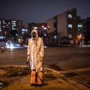 تصاویر ضدعفونی ساختمان های مسکونی غرب تهران