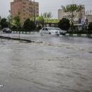 تصاویر بارندگی شدید و آب گرفتگی معابر قم