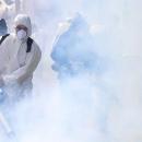 فعالیت مستمر شبانه روزی آتش نشانی تهران برای ضد عفونی شهر + تصاویر