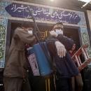 تصاویر فعالیت جهادی طلاب و دانشجویان با ضد عفونی خودرو ها در شیراز