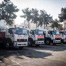 تصاویر عملیات ضدعفونی منطقه ۱۵ و ۱۴ توسط آتش نشانی