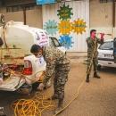 تصاویر توزیع ۱۱ هزار بسته بهداشتی در بجنورد