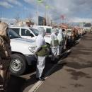 تصاویر رزمایش دفاع بیولوژیک سپاه علیه کرونا در اردبیل