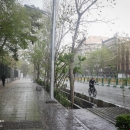 تصاویر بارش تگرگ در تهران