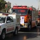 امداد رسانی ۱۰ دستگاه ناوگان آتشنشانی در مانور ایمنی منطقه هشت