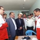 بازدید نماینده مجلس شورای اسلامی از خدمات کاروان سلامت قم در بسطام