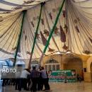 برپایی خیمه اباعبدالله الحسین(ع) در صحن امامزاده موسی مبرقع