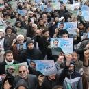 راهپیمایی نمازگزاران قم در حمایت از مدافعان امنیت و تکریم بازماندگان حادثه هواپیما