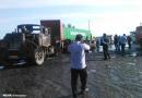 تصاویر برخورد خودرو کامیون با سمند در جاده بندر شهید رجایی