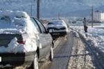 بارش شدید برف در محور های مواصلاتی استان زنجان