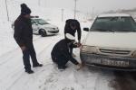بارش برف در محورهاي مواصلاتي استان آذربایجان شرقی