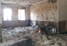 تصاویر نابودی ۱۳هزار جلد کتاب در آتش جهل آشوب طلبان