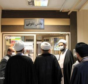 تصاویر تقدیر امام جمعه همدان از زحمات کادر پزشکی بیمارستان سینا