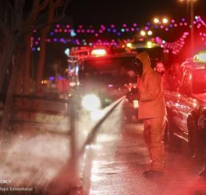 تصاویر ضدعفونی اماکن و معابر عمومی در اصفهان