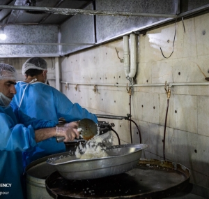 تصاویر طبخ غذای متبرک رضوی برای بیماران کرونایی و مدافعین سلامت