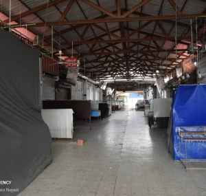 تصاویر تعطیلی بازارها و مراکز خرید آستارا