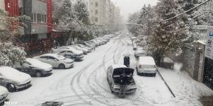 تصاویر برف و ترافیک تهران