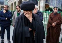 تصاویر عزاداری خادمان در روز رحلت حضرت معصومه(س)